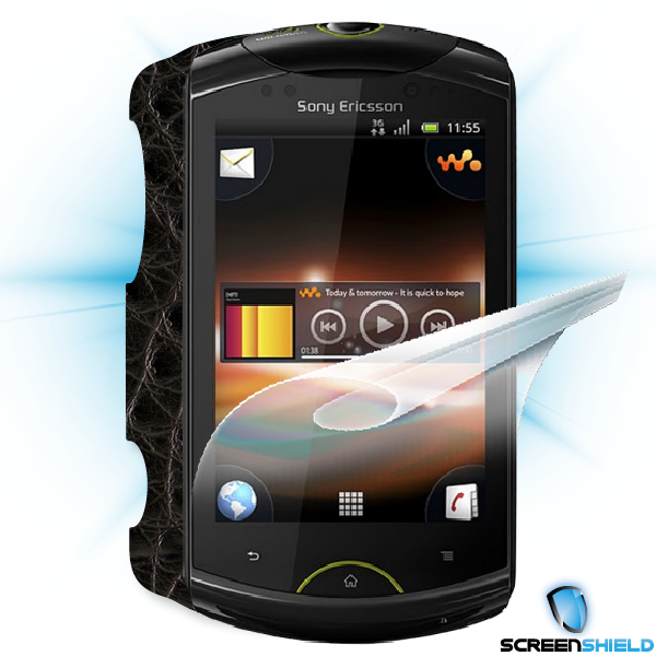 ScreenShield Live with walkman - Films on display and carbon skin (leather)