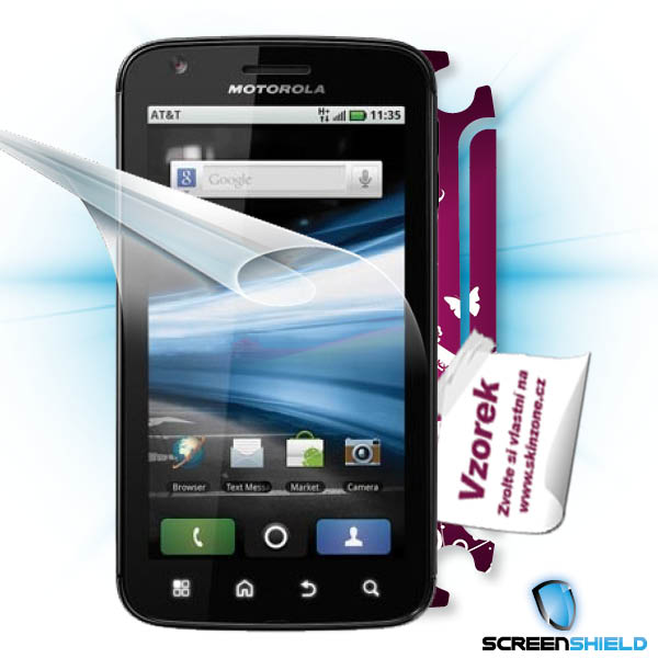 ScreenShield Motorola ATRIX - Film for display protection and voucher for decorative skin (including shipping fee to end