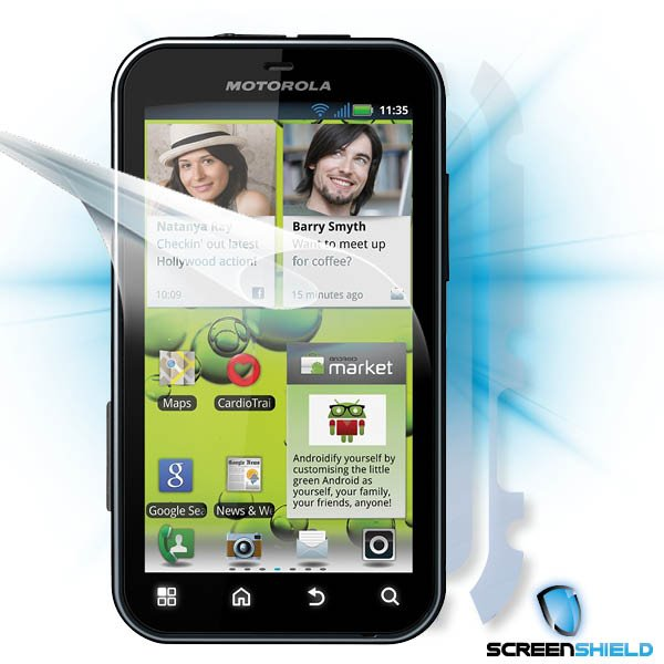 ScreenShield Motorola Defy+ - Film for display + body protection