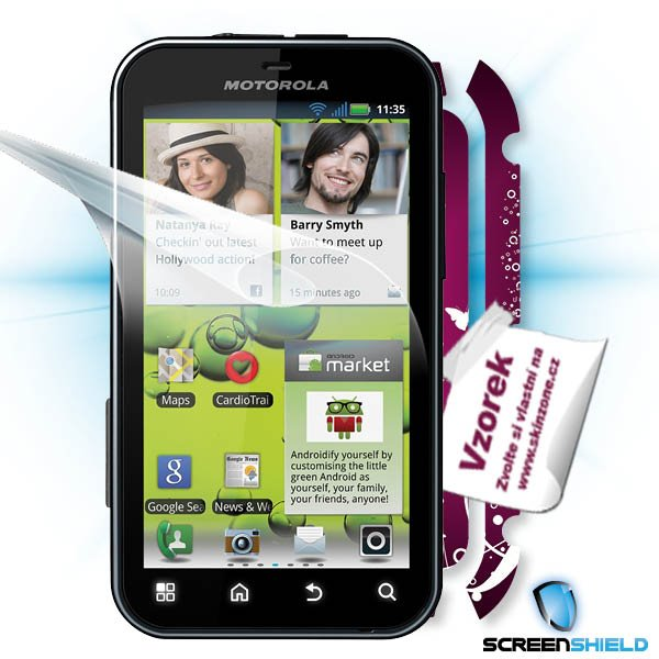 ScreenShield Motorola Defy+ - Film for display protection and voucher for decorative skin (including shipping fee to end