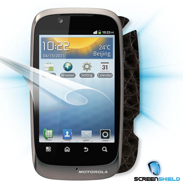 ScreenShield Motorola Fire - Films on display and carbon skin (silver)