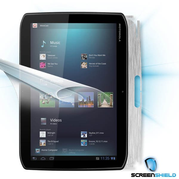 ScreenShield Motorola XOOM MZ601 - Films on display and carbon skin (silver)