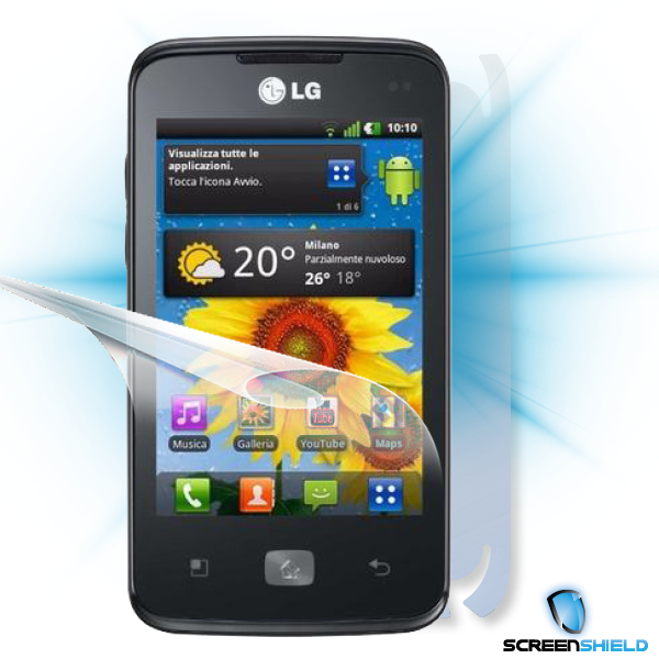 ScreenShield LG Optimus HUB E510 - Film for display + body protection