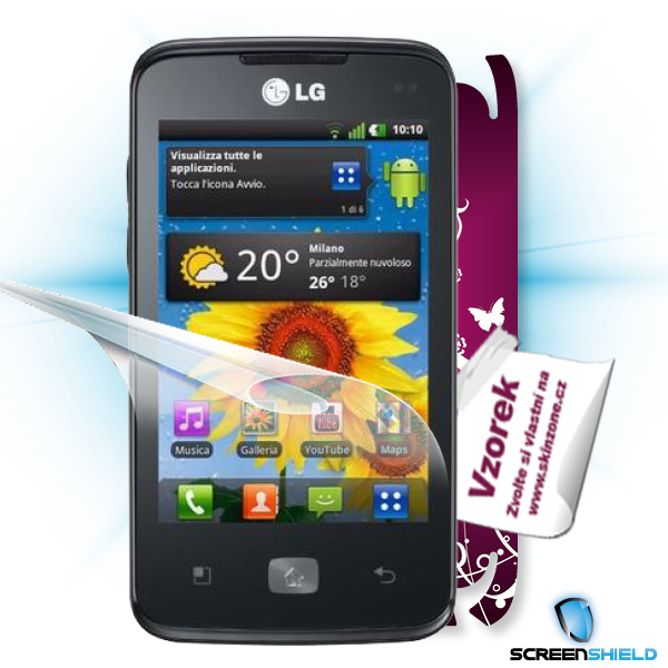 ScreenShield LG Optimus HUB E510 - Film for display protection and voucher for decorative skin (including shipping fee t