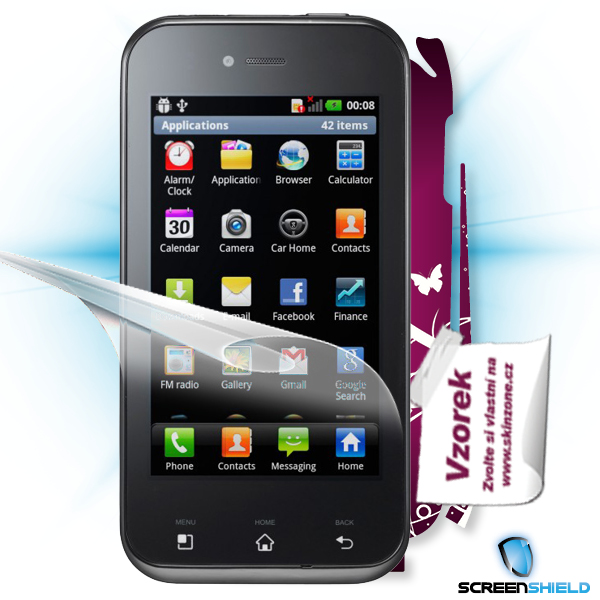 ScreenShield LG Optimus SOL E730 - Film for display protection and voucher for decorative skin (including shipping fee t
