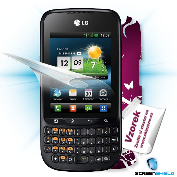 ScreenShield LG Optimus PRO C660 - Film for display protection and voucher for decorative skin (including shipping fee t