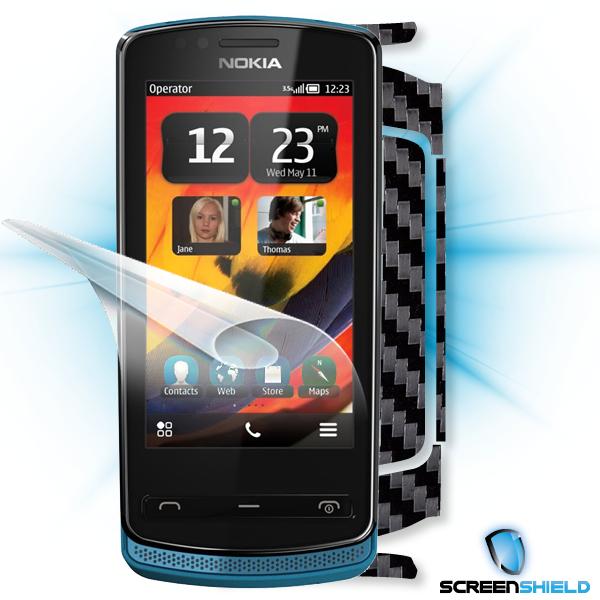 ScreenShield Nokia 700 - Films on display and carbon skin (black)
