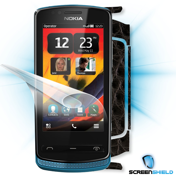 ScreenShield Nokia 700 - Films on display and carbon skin (leather)
