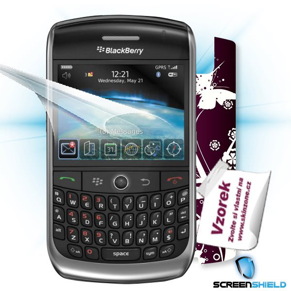 ScreenShield Blackberry Curve 8900 - Film for display protection and voucher for decorative skin (including shipping fee