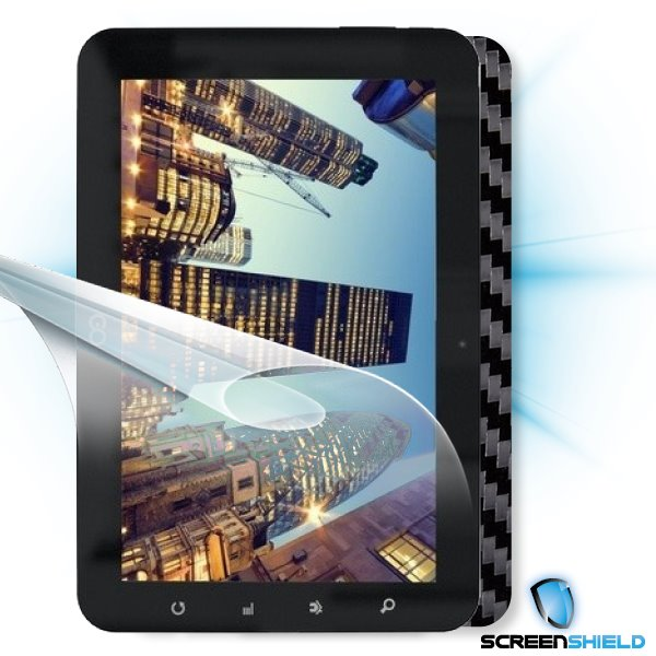 ScreenShield GoClever Tab R93 - Films on display and carbon skin (black)