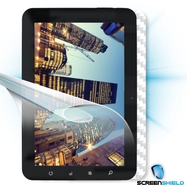 ScreenShield GoClever Tab R93 - Films on display and carbon skin (white)