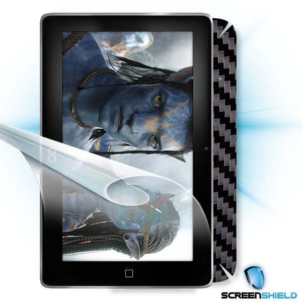 ScreenShield GoClever Tab R73 - Films on display and carbon skin (black)