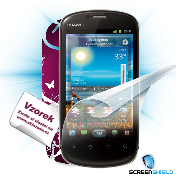 ScreenShield Huawei Vision - Film for display protection and voucher for decorative skin (including shipping fee to end