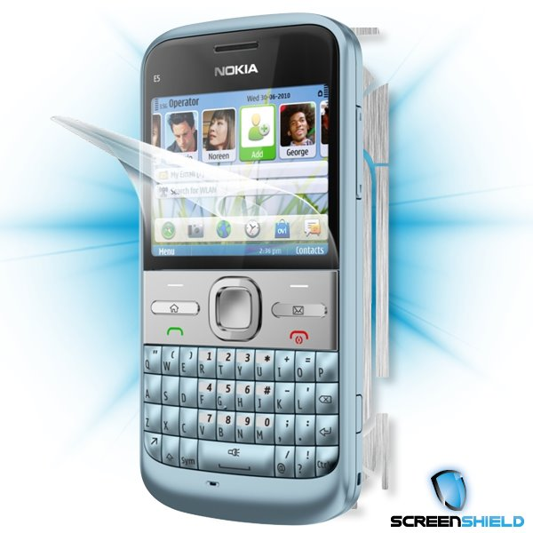 ScreenShield Nokia E5-00 - Films on display and carbon skin (silver)