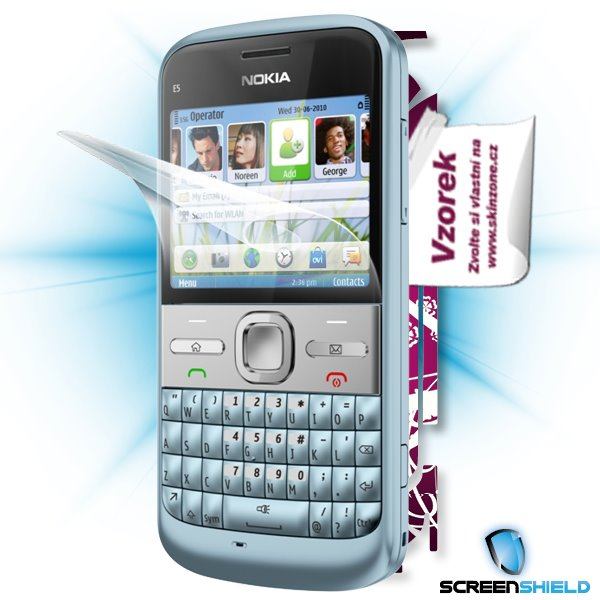 ScreenShield Nokia E5-00 - Film for display protection and voucher for decorative skin (including shipping fee to end cu