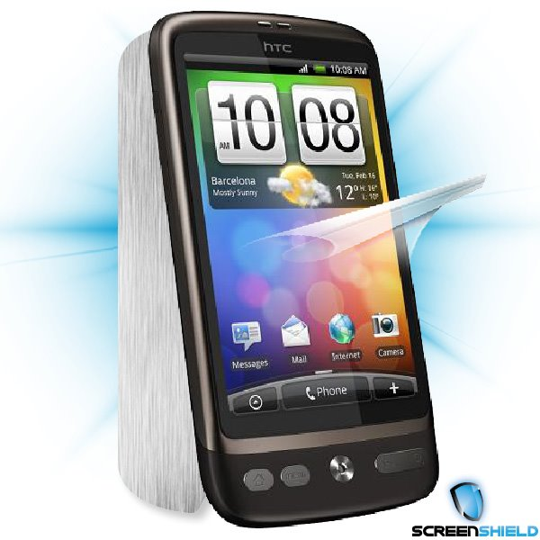 ScreenShield HTC Desire - Films on display and carbon skin (silver)