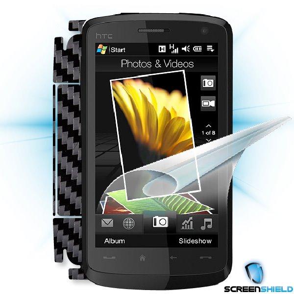 ScreenShield HTC Desire HD - Films on display and carbon skin (black)