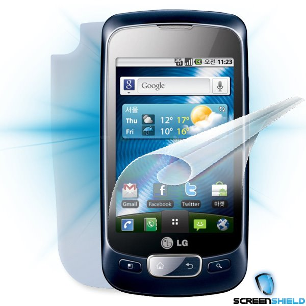 ScreenShield LG Optimus One (P500) - Film for display + body protection