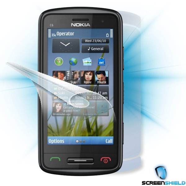 ScreenShield Nokia C6-00 - Film for display + body protection