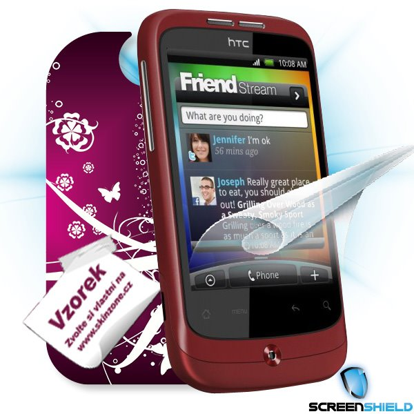 ScreenShield HTC Wildfire - Film for display protection and voucher for decorative skin (including shipping fee to end c