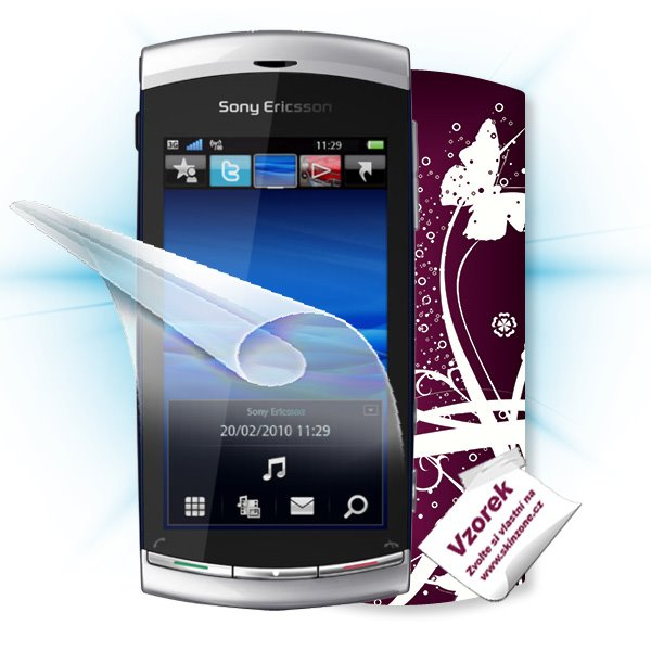ScreenShield Sony Ericsson Vivaz - Film for display protection and voucher for decorative skin (including shipping fee t
