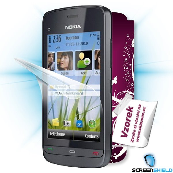 ScreenShield Nokia C5-03 - Film for display protection and voucher for decorative skin (including shipping fee to end cu