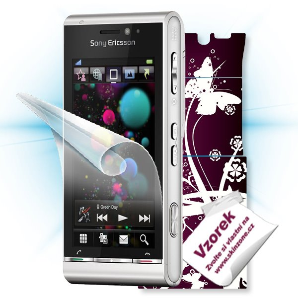 ScreenShield Sony Ericsson Satio - Film for display protection and voucher for decorative skin (including shipping fee t