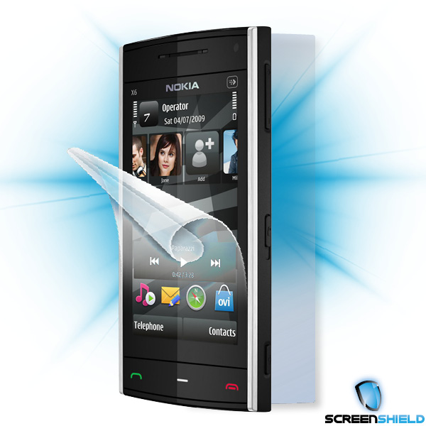 ScreenShield Nokia X6 - Film for display + body protection