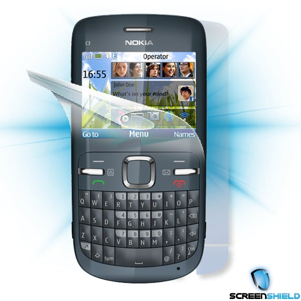 ScreenShield Nokia C3 - Film for display + body protection