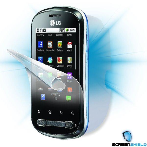 ScreenShield LG Optimus ME (P350) - Film for display + body protection