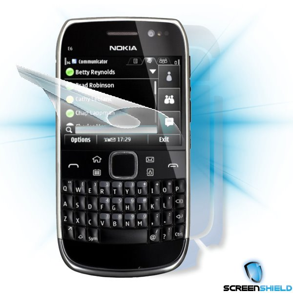 ScreenShield Nokia E6-00 - Film for display + body protection