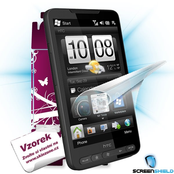 ScreenShield HTC HD2 - Film for display protection and voucher for decorative skin (including shipping fee to end custom