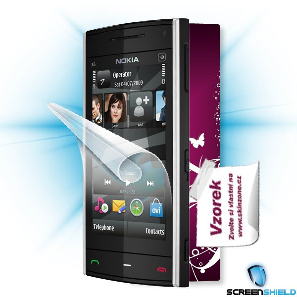 ScreenShield Nokia X6 - Film for display protection and voucher for decorative skin (including shipping fee to end custo