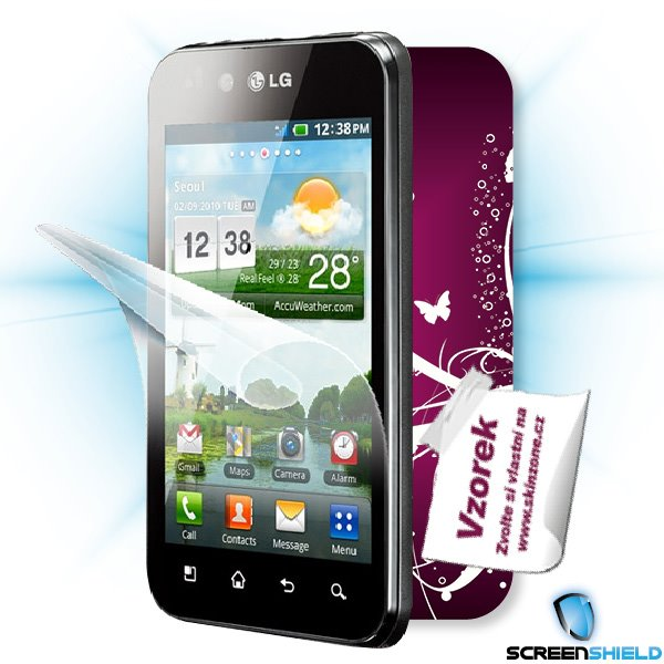 ScreenShield LG Optimus Black (P970) - Film for display protection and voucher for decorative skin (including shipping f