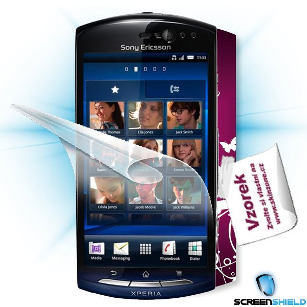 ScreenShield Sony Ericsson Xperia Neo (MT15i) - Film for display protection and voucher for decorative skin (including s
