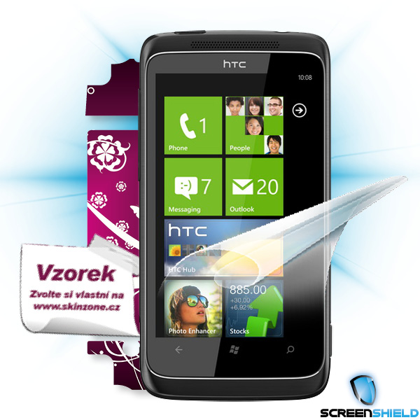 ScreenShield HTC 7 PRO - Film for display protection and voucher for decorative skin (including shipping fee to end cust
