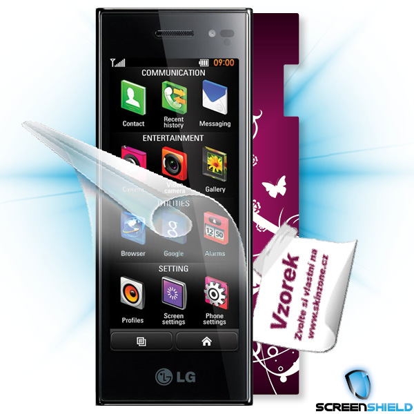 ScreenShield LG BL40 - Film for display protection and voucher for decorative skin (including shipping fee to end custom