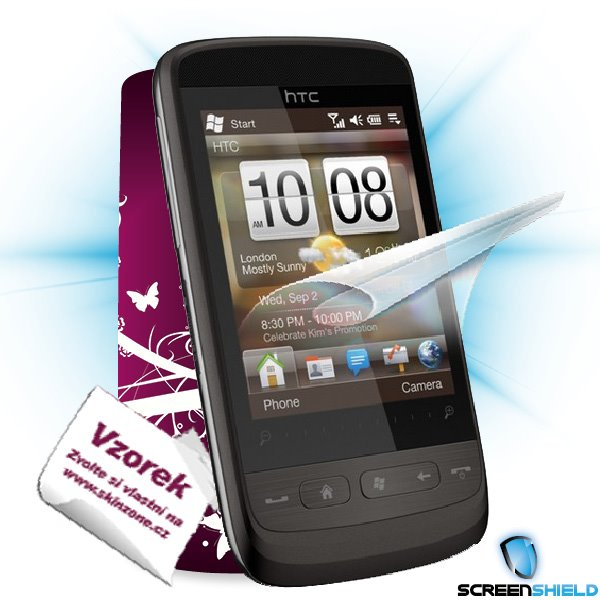 ScreenShield HTC Touch 2 - Film for display protection and voucher for decorative skin (including shipping fee to end cu