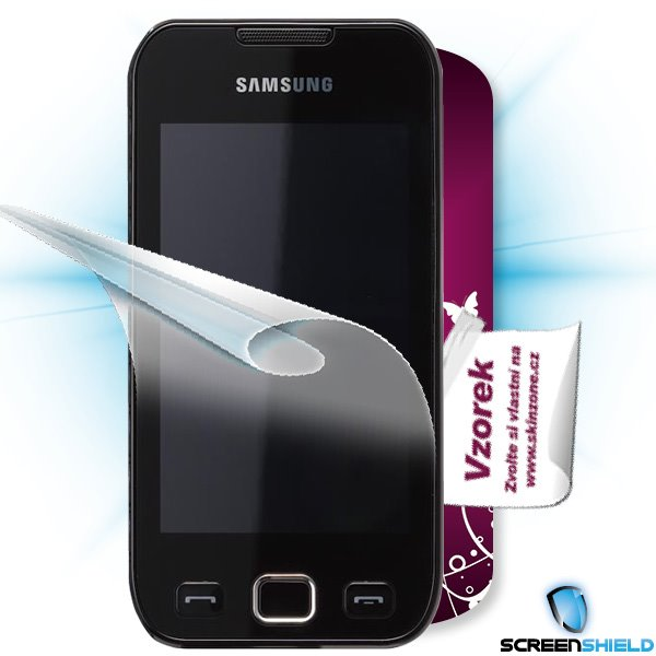 ScreenShield Samsung Wave 533 - Film for display protection and voucher for decorative skin (including shipping fee to e