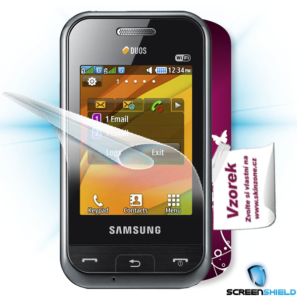 ScreenShield Samsung Champ DUOS - Film for display protection and voucher for decorative skin (including shipping fee to