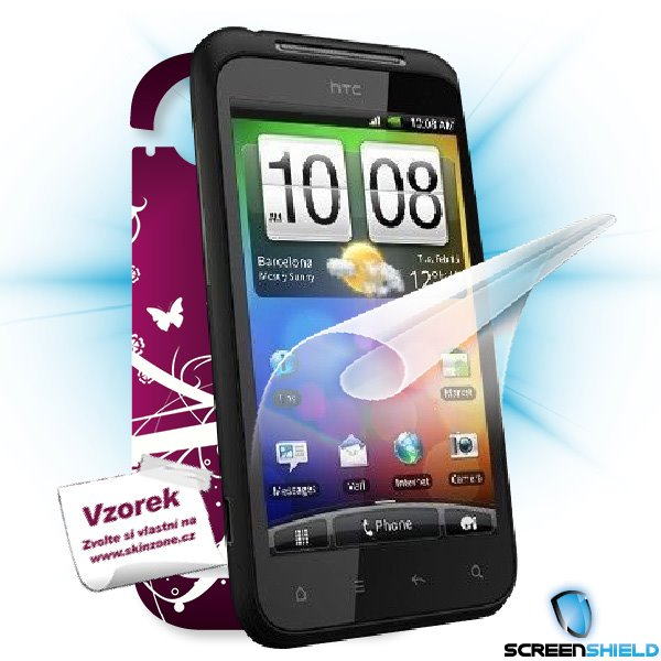 ScreenShield HTC Incredible S - Film for display protection and voucher for decorative skin (including shipping fee to e