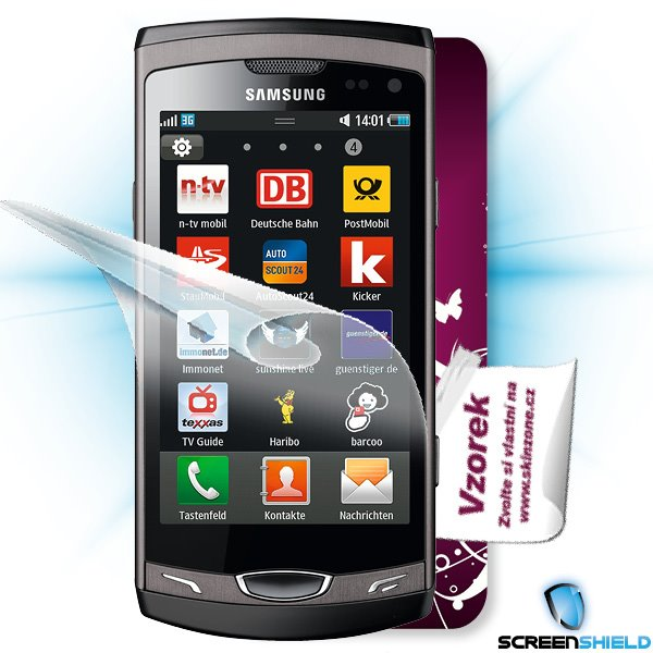 ScreenShield Samsung Wave II (S8530) - Film for display protection and voucher for decorative skin (including shipping f