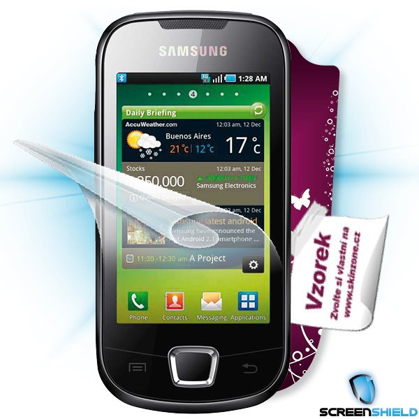 ScreenShield Samsung Galaxy 3 (i5800) - Film for display protection and voucher for decorative skin (including shipping