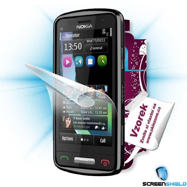 ScreenShield Nokia C6-01 - Film for display protection and voucher for decorative skin (including shipping fee to end cu