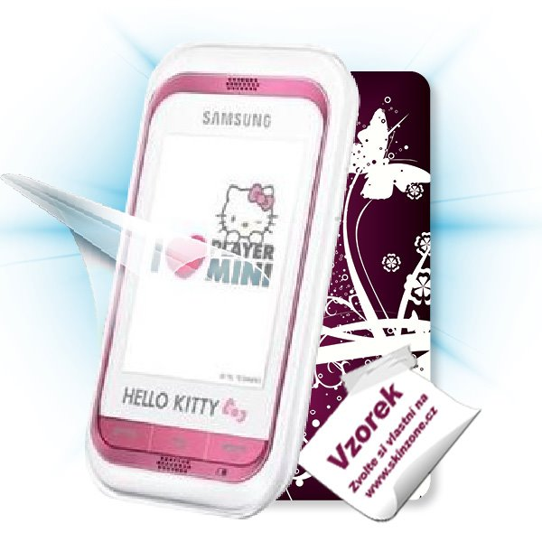 ScreenShield Samsung Champ Hello Kitty (C3300) - Film for display protection and voucher for decorative skin (including