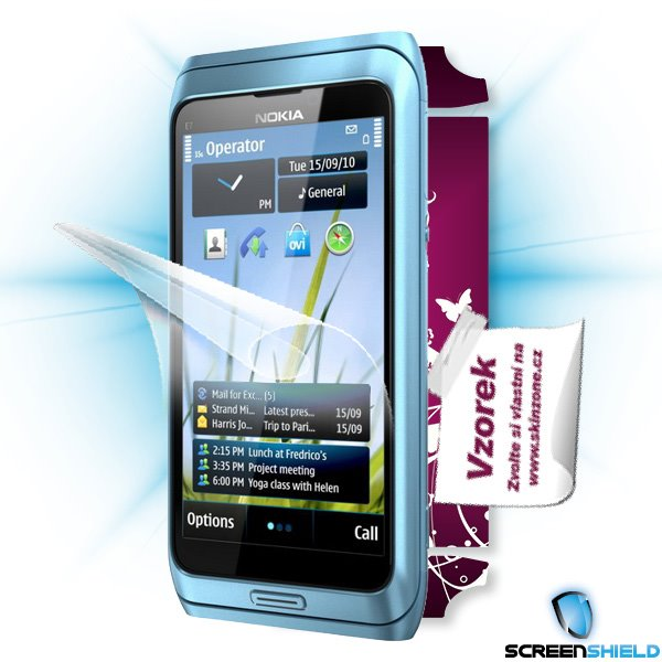 ScreenShield Nokia E7 - Film for display protection and voucher for decorative skin (including shipping fee to end custo