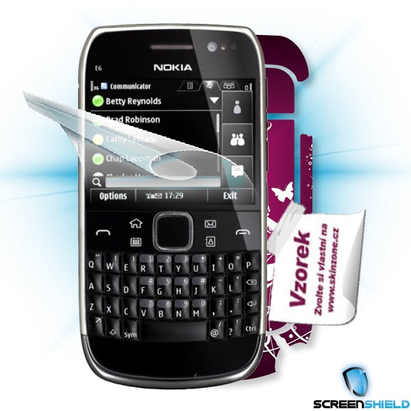 ScreenShield Nokia E6-00 - Film for display protection and voucher for decorative skin (including shipping fee to end cu