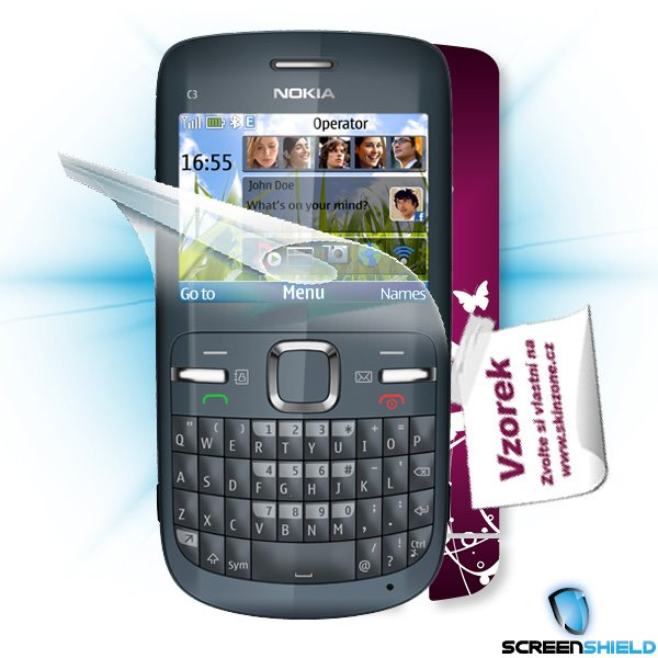ScreenShield Nokia C3 - Film for display protection and voucher for decorative skin (including shipping fee to end custo