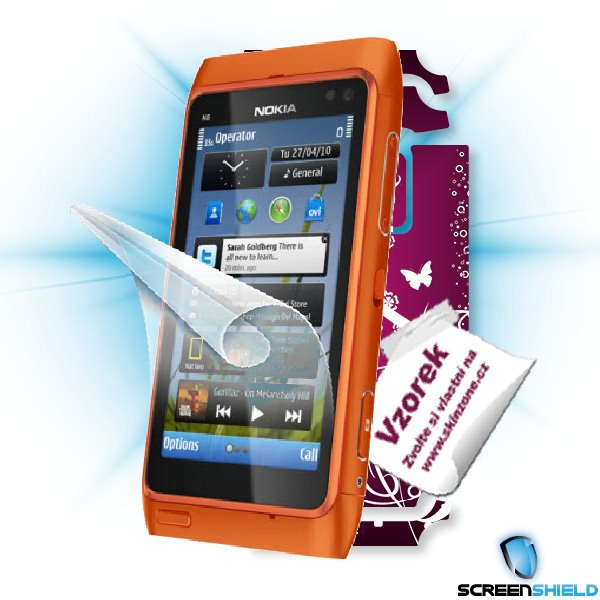 ScreenShield Nokia N8 - Film for display protection and voucher for decorative skin (including shipping fee to end custo