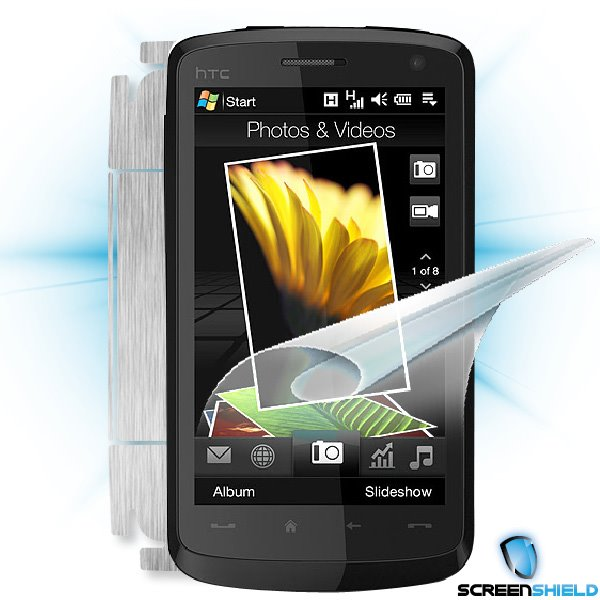 ScreenShield HTC Desire HD - Films on display and carbon skin (silver)